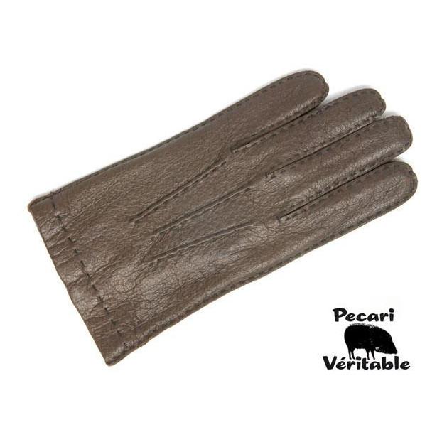 Gant Cuir Pécari brun