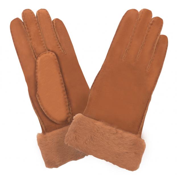 gant shearling Brique