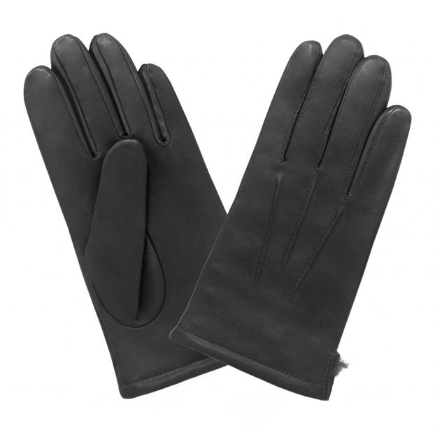 Gant Classique Doublure Lapin Noir